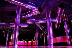 5/14/2013: Color-changing tubes of fluorescent light by @David Stark Design. Photo: Nadia Chaudhury / BizBash