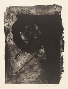 Robert Motherwell ~ Poet ~ 1961 ~ Lithografie op papier ~ x 41 cm. ~ Tate Gallery, Londen ~ © Dedalus Foundation, Inc/VAGA, New York and DACS, London 2015 Robert Motherwell, Contemporary Abstract Art, Contemporary Printmaking, Modern Art, Plastic Art, Jackson Pollock, Abstract Expressionism, Art History, Fine Art Prints