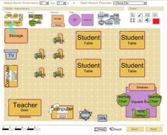 FREE CLASSROOM ARCHITECT TOOL~ Design your classroom layout, save, and print as needed. Students can also use this tool to recreate your classroom, or design a room of their own Easy and versatile! I need this because I'm awful at visualizing! Library Floor Plan, Classroom Floor Plan, Classroom Map, Classroom Layout, Classroom Design, School Classroom, Classroom Ideas, Teacher Storage, Classroom Organization