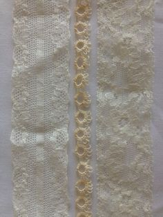 Three Rows of Different Lace  how to sew lace