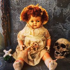 A personal favorite from my Etsy shop https://www.etsy.com/listing/514141233/composition-daool-creepy-doll