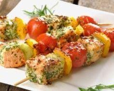 Brochettes de poissons (facile, rapide) - Une recette CuisineAZ