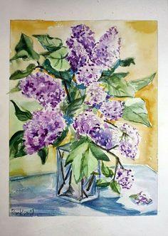 Сирень (акварель) #art #искусство #живопись #акварель #творчество #AndreyPenkin #painting #watercolor #creativity #сирень #lilac #лето