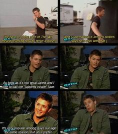 Jensen Ackles, ladies and gentlemen.  Makes me laugh every stinking time.