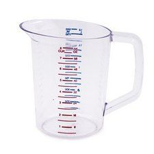 "Harold Import 3217 Measuring CUP 64oz by Harold Import. $29.99. Easy to read measure lines. Lightweight, clear plastic. Easy-grip handle. Measure up to 8 cups (64 oz.) of liquid with this exceptional, lightweight plastic measuring cup. It's dishwasher and microwave safe for your convenience, with an easy-grip handle.. HAROLD IMPORT"" MEASURING CUP. ""HAROLD IMPORT"" MEASURING CUP   Measure up to 8 cups (64 oz.) of liquid with this exceptional, lightweight plastic measurin..."