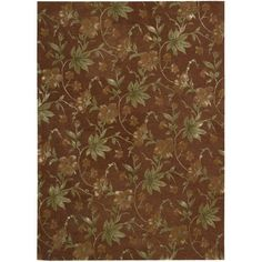 "Nourison Modern Elegance Brick Wool Area Rug (3'6 x 5'6) (3'6"" x 5'6""), Green, Size 3'6"" x 5'6"""