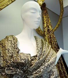 Our window of the week.. #gold #fabric #londonstyle