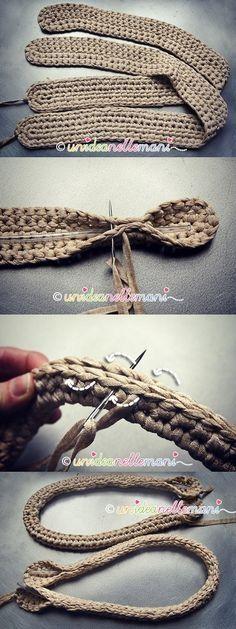 Crochet bag/purse straps