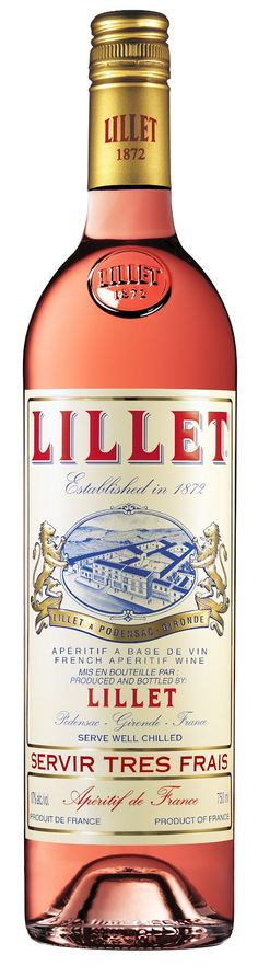 Lillet Rosé #packaging