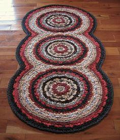 Triple Disc Crocheted Rag Rug Your Custom Colors by elevensides Filet Crochet, Crochet Doily Rug, Crochet Carpet, Crochet Circles, Crochet Home, Homemade Rugs, Morrocan Rug, Medium Rugs, Circle Rug