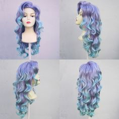 Mermaid Lagoon Purple and Aqua Adult Costume Wig From Under The Sea a True Enchantment Original.   I LOVE this wig!