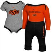 Nike Oklahoma State Cowboys Infant Ash-Orange-Black Double Creeper & Pants Set