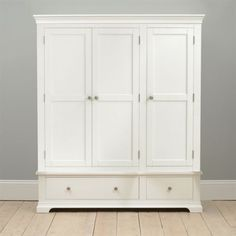 Chantilly Triple White Wardrobe