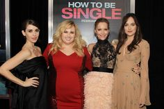 Dakota Johnson has gushed over the honor it was to work with Rebel Wilson, Leslie Mann, and Alison Brie for the film How to Be Single, but now her cos. Leslie Mann, Alison Brie, Dakota Johnson, How To Be Single, Rebel Wilson, Just Jared, Fifty Shades Of Grey, Bridesmaid Dresses, Wedding Dresses