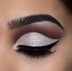 """A baked beat by @chelseasmakeup Sweet Deets: Brows: Brown BROWnies Eyes: EyesCream palette (""""Drive-Thru"""" and """"You Scream"""" in the crease, """"Chocolate Chip"""" and """"I-Scream"""" on lid) Glitter: White Sprinkles Eyeliner: Black Milk GELato Create this same look on BeautyBakerie.com!"""