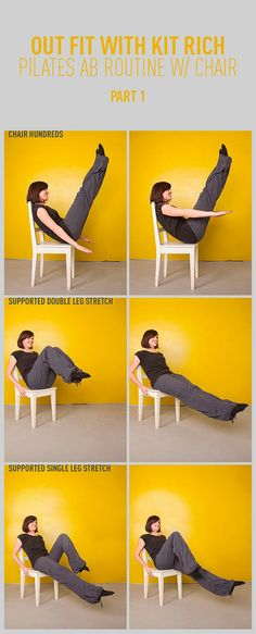 Pilates Abs Workout With a Chair: Part One #ChairWorkout