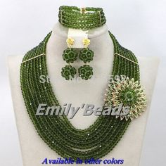 Find More Jewelry Sets Information about Olive Green Nigerian Beads Bridal Necklace Bracelet Earrings Jewelry Set 8 Layers African Crystal Beads Jewelry Set AES085,High Quality jewelry box clip art,China jewelri Suppliers, Cheap jewelry nepal from Emily's Jewelry DIY Store on Aliexpress.com