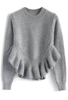adorable_frilling_hemline_sweater_in_grey_1.jpg (700×1021)