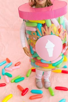Cute costume idea - jar of sprinkles!