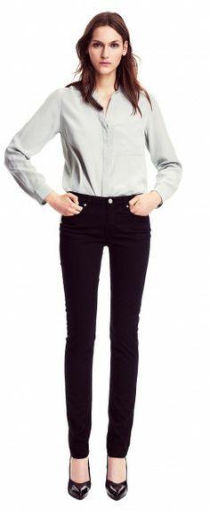 Silk Blouse, Black Jeans