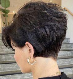 Short Hair Back View, Short Thin Hair, Short Grey Hair, Short Hair With Layers, Short Hair Cuts For Women, Short Hair Styles, Pixie Hairstyles, Pixie Haircut, Easy Hairstyles