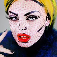 A pop art transformation inspired by Andy Warhol is featured in this look. Watch the video to know the process and must-haves to create this funky makeup for Halloween.