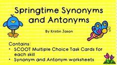 Synonyms And Antonyms, Antonyms Homonyms Synonyms, Tpt Pinning Board ...
