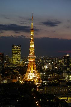 Tokyo Tower, Japan - havent been back in 10 years! time to visit again...!