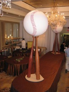 Baseball Centerpiece used as a sign in book or for dessert bar. Baseball Theme Birthday, Baseball Party, Sports Party, Birthday Party Themes, Sports Centerpieces, Baseball Centerpiece, Centerpiece Ideas, Theme Sport, Bar Mitzvah Invitations