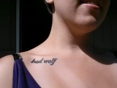 bad wolf tattoo dr who