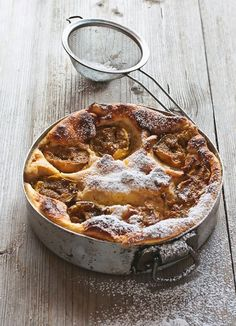 Turkish Yogurt Cake with Figs Recipe. Airy, sufflé-like cake scented with orange blossom water.