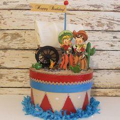Western/Cowboy/Cowgirl Birthday Centerpiece/Decoration. $78.00, via Etsy.