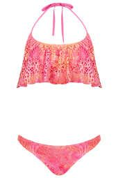 Pink Tie Dye Crochet Bikini