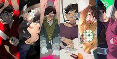 Osomatsu-san- Osomatsu, Karamatsu, Choromatsu, Ichimatsu, Jyushimatsu, and Todomatsu #Anime「♡」Dark