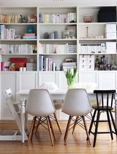 schöner wohnen mit @sarahplusdrei Eames, Ikea, Bookcase, Sweet Home, Shelves, Chair, Furniture, Hedwig, Home Decor