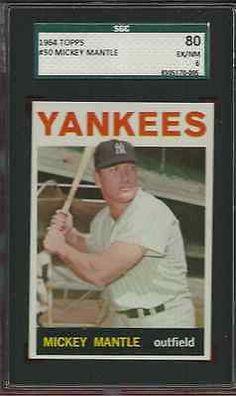 52eebf56f33 1964 Topps Mickey Mantle New York Yankees Baseball Card