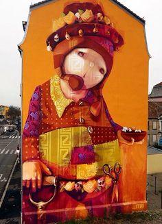 """El Sembrador"" by Inti - Mulhouse, France - 11/14 (LP)  visit dopewriter.com to buy personal graffiti via paypal"