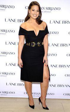 Fashion Week's Best Celebrity Photos From NYFW, Paris and Beyond - Ashley Graham in a black Christian Siriano for Lane Bryant dress