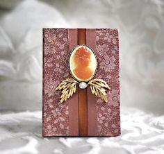 Bride Keepsake Calendar Book Dates To Remember Wedding Goddess Cameo Rust Rustic Woodland Leaf Leaves Flowers Birthday Anniversary Record