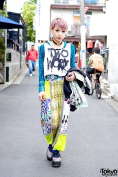 Great colors in Japanese street fashion! See more images here: http://sussle.org/t/Japanese_street_fashion