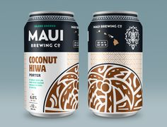 Maui Brewing Company has made beer on their own little island for over a decade. Together, we created refined branding and new packaging to help them tell their uniquely Hawaiian story to the world. Maui, Beer Company, Brewing Company, Beverage Packaging, Coffee Packaging, Design Package, Label Design, Branding Design, Craft Beer Labels