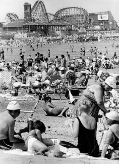 With summer vacation now in the books, we thought we'd take a look back at one of the Boston area's best-known beaches. Here's a look at Revere Beach in years past, via The Boston Globe's archives. Roller Coasters, Coney Island Amusement Park, Amusement Parks, Beach Photos, Old Photos, Revere Beach, Boston Strong, Island Beach, Viajes