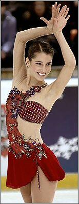 Alissa Czisny -Red Figure Skating / Ice Skating dress inspiration for Sk8 Gr8 Designs.