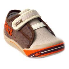 Tênis Klin Toy Infantil Menino Detalhe Velcro Elastano Café Laranja Na  Passo a Passo Online você 9d4516440f165