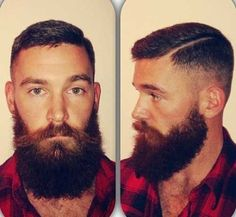 full thick dark beard and mustache two tone nice coloration beards bearded man men lumberjack style undercut handsome Great Beards, Awesome Beards, Hair And Beard Styles, Short Hair Styles, Lumberjack Style, Lumberjack Beard, Holiday Hairstyles, Men Hairstyles, Wedding Hairstyles