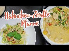 Hähnchen-Zoodle-Pfanne in Parmesansoße – Essen ohne Kohlenhydrate
