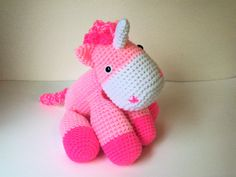 Cuddly Perfectly Pink Unicorn (Finished Doll) by BeyondCrochet on Etsy