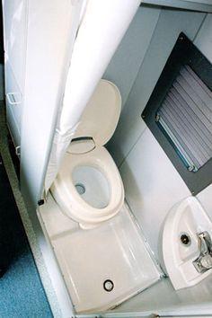 Sportsmobile Custom Camper Vans - Baths Combo Bath works best with Space-Saving Sink -and- Toilet Combined Design Kombi Trailer, Kombi Motorhome, Camper Trailers, Campervan, Travel Trailers, Custom Camper Vans, Custom Campers, Rv Campers, Do It Yourself Camper