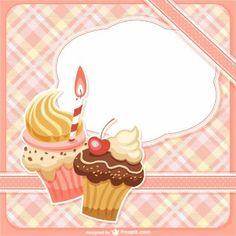 Cupcake Template Vectors, Photos and PSD files Cupcake Logo, Cupcake Party, Cake Illustration, Food Illustrations, Logo Doce, Cupcake Template, Candy Logo, Cake Logo Design, Food Menu Design