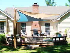 Amazon.com : Metro Triangle Sun Shade Sail 16 Feet - Sand Color : Patio, Lawn & Garden